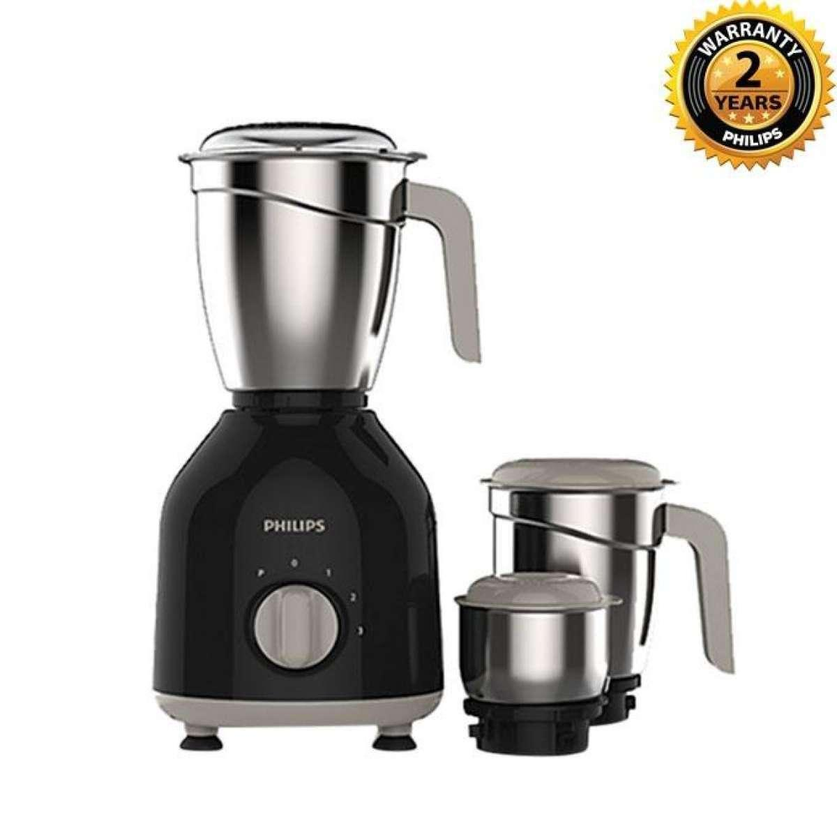 HL7756/00 - Mixer Grinder - Black and Silver