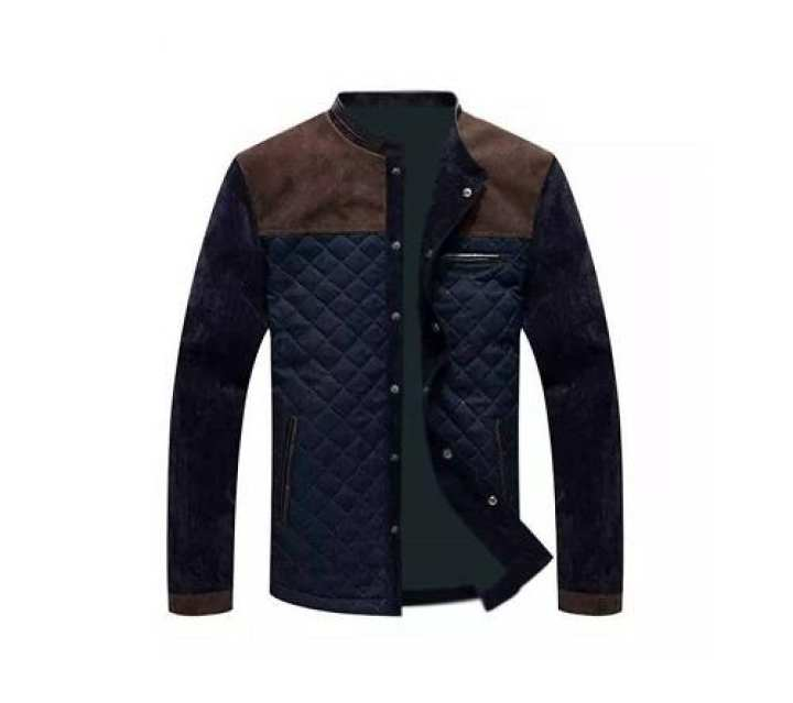 Navy Blue DarkRed Jacket For Man