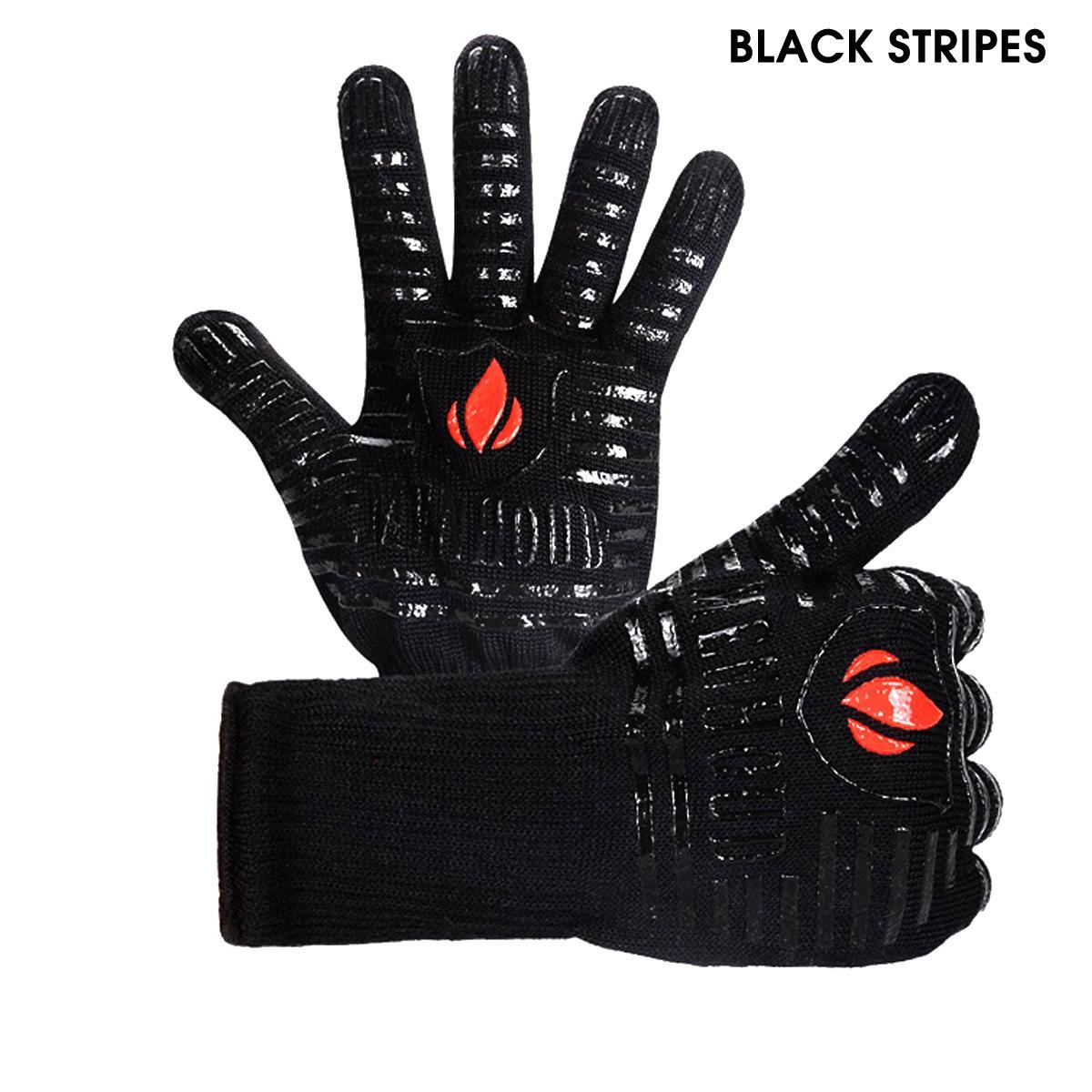 Up to 932°F Silicone Extreme Heat Resistant Cooking Oven Mitt BBQ Grilling Glove