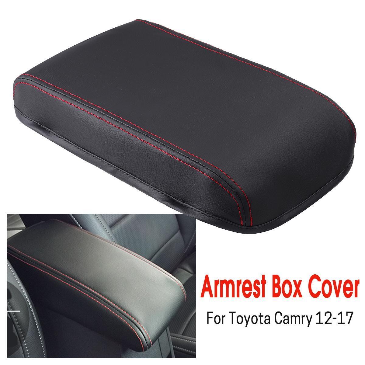 Car Center Console Armrest Box Cover DIY Leather Protection Pad for Toyota  Camry 2012 2013 2014 2015 2016 2017 #RED