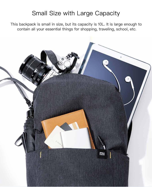 Original Xiaomi Mi Backpack 10L Bag (4)