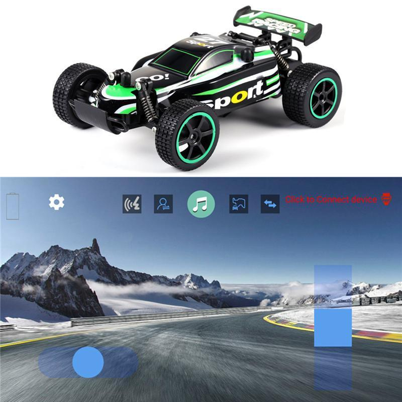 Kobwa Bluetooth APP Control 1:20 Charging Children's High-speed Drive  Off-Road Remote Control Toy Car USB Charging