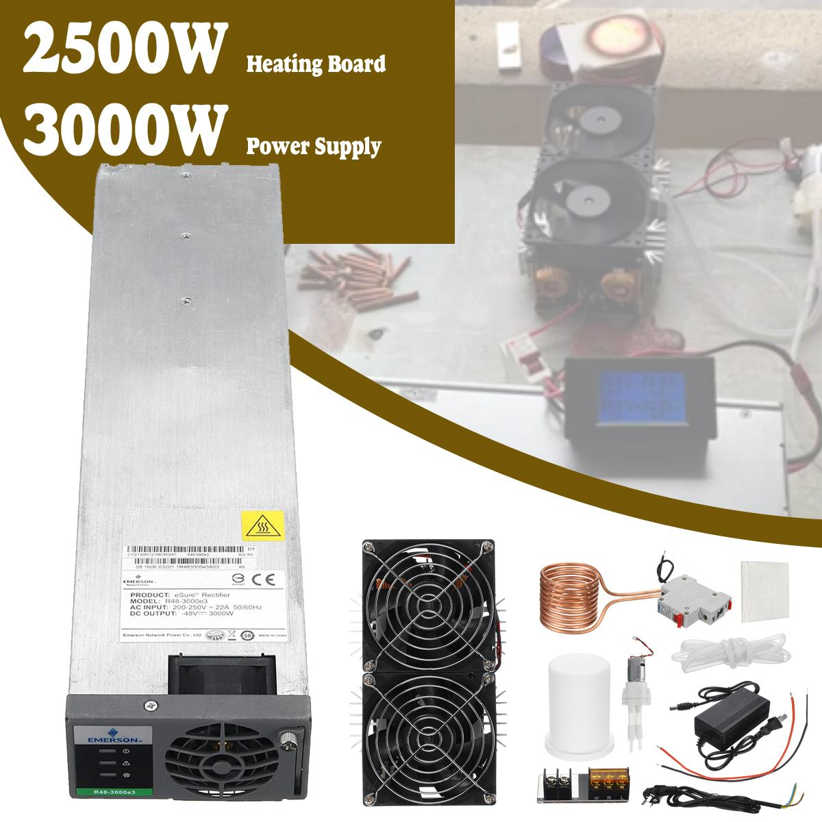3000W 50A Power Supply + 2500W ZVS Induction Heating Board Heater + Copper  Coil