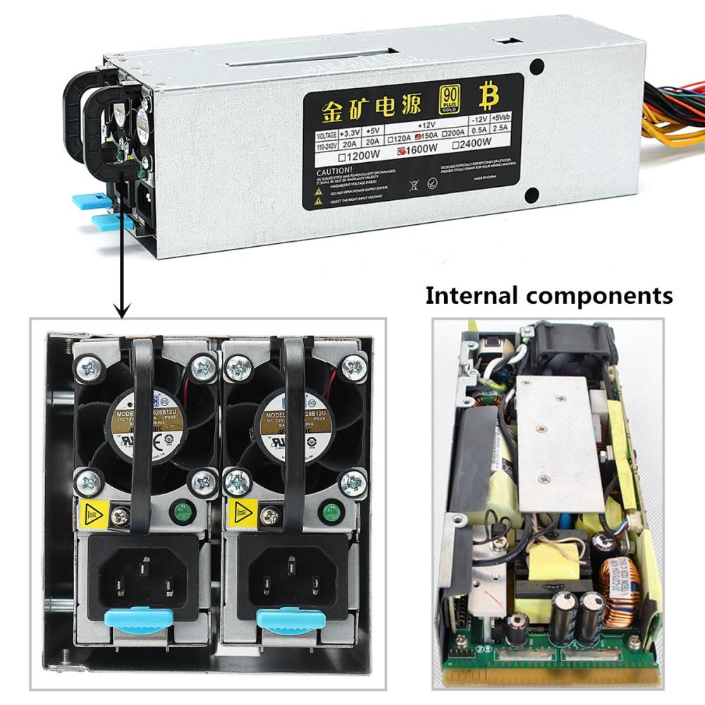 94% 1600W Miner Machine Power Supply Mining For BTC Antminer S7 S9 T9 APW3  A7