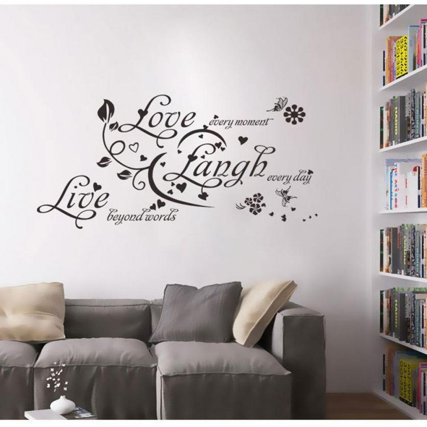 Live Laugh Love English Letters Wall Decal Bedroom Living Room Background Sticker Decor Buy Online At Best Prices In Bangladesh Daraz Com Bd
