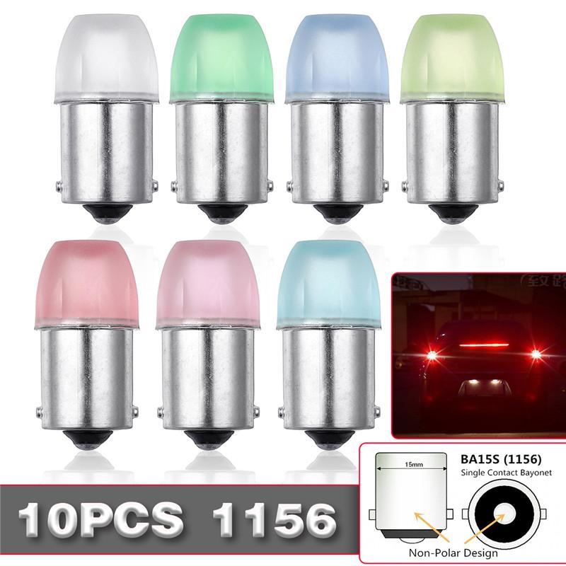 10PCS 1W 1156 BA15S Car Bulb Turn signal Reversing Brake Light Taillight DC12V