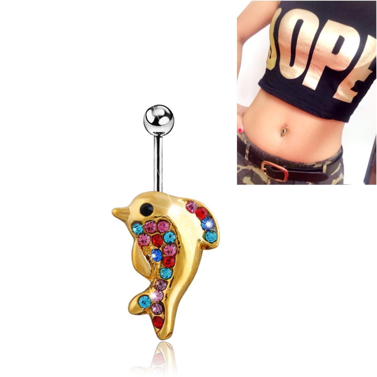 select for genuine exclusive deals durable modeling Belly Bars Drop Body Piercing Belly Button Ring Crystal Dangly Reverse  Navel Bar