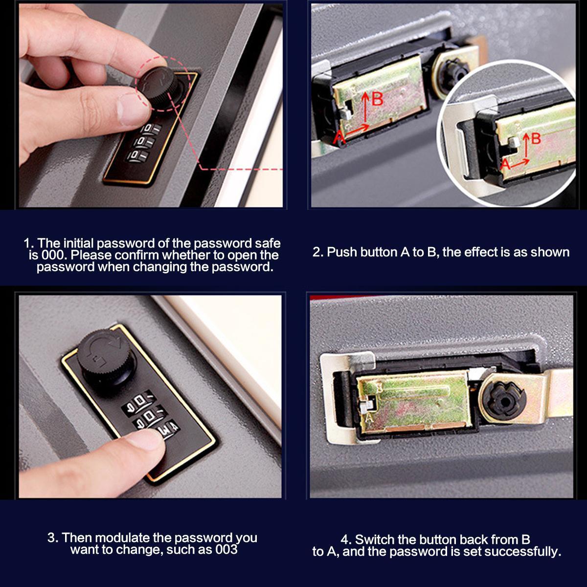 Black/Blue/Red/Brown Book Shaped Safe Box Money Saving Case Password Lock