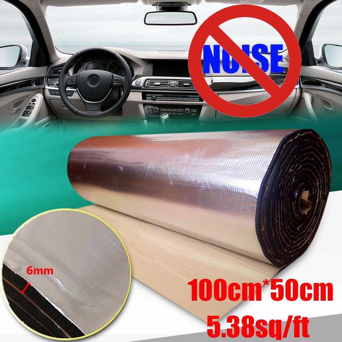 F-blue 8mm Car Sound Deadener Mat Noise Insulation Deadening Hood Engine Firewall Heat Deadening Mat