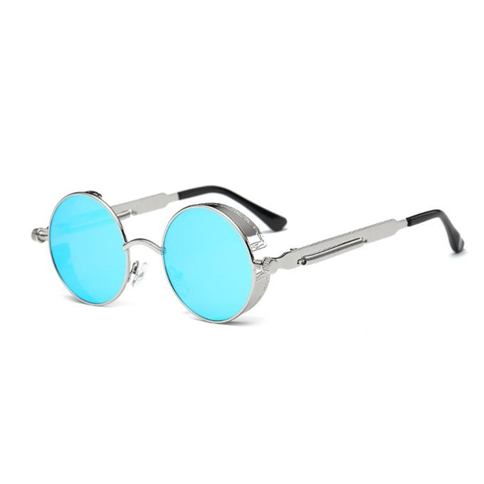 85e1801512 Gothic Steampunk Round Metal Sunglasses for Men Women Mirrored Circle Sun  glasses Brand Designer Retro Vintage