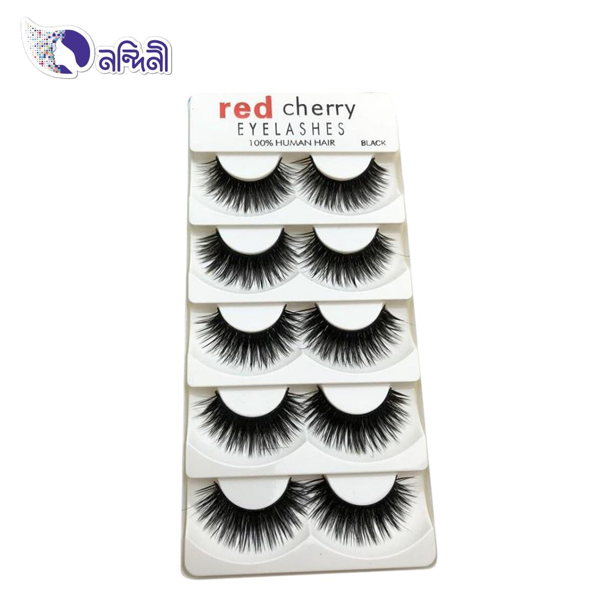 d1f5e218af3 RED CHERRY False Eyelashes Natural Long Eye Lashes Extension Makeup  Professional Faux Eyelash