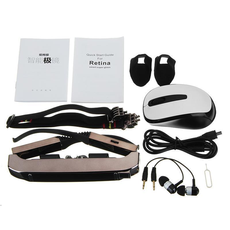 VISION-800 3D Goggles Video Glasses Android 4 4 MTK6582 1G/2G 5MP AC WIFI  BT4 0 2060P MIC