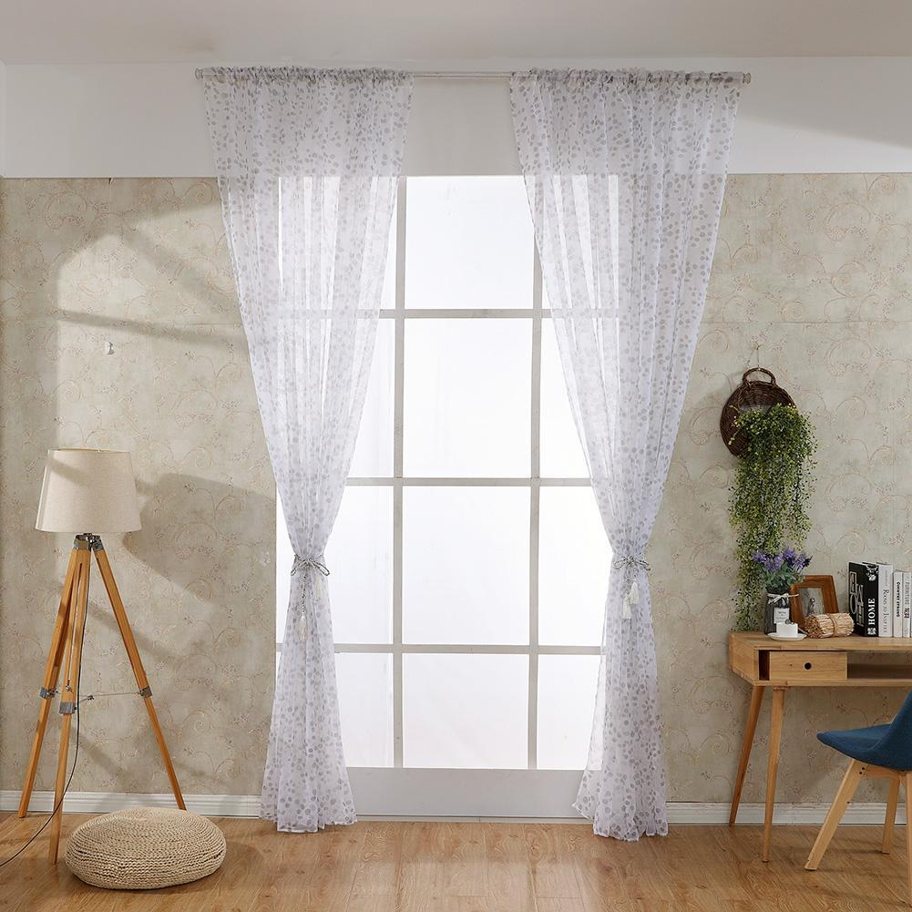 Leaves Printed Living Room Blackout Curtains Bedroom Windows Drapes Curtain