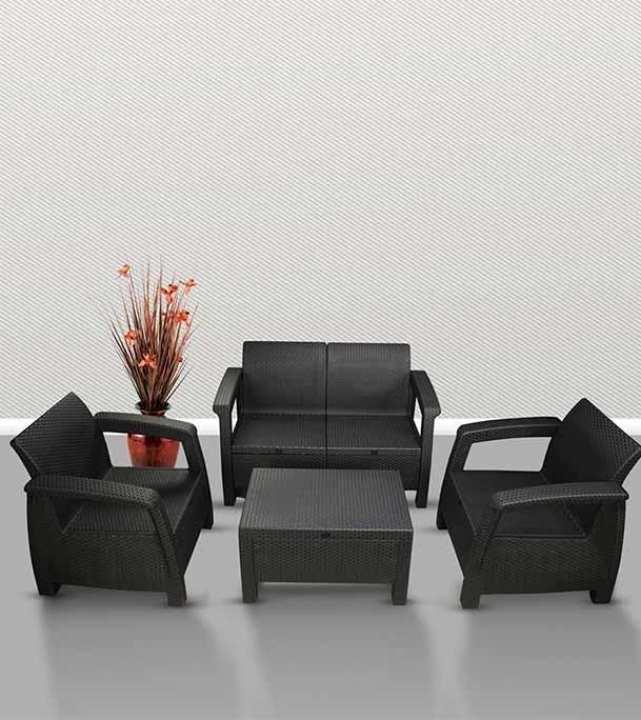 Caino Sofa 4 Pcs Set - Black (839727)