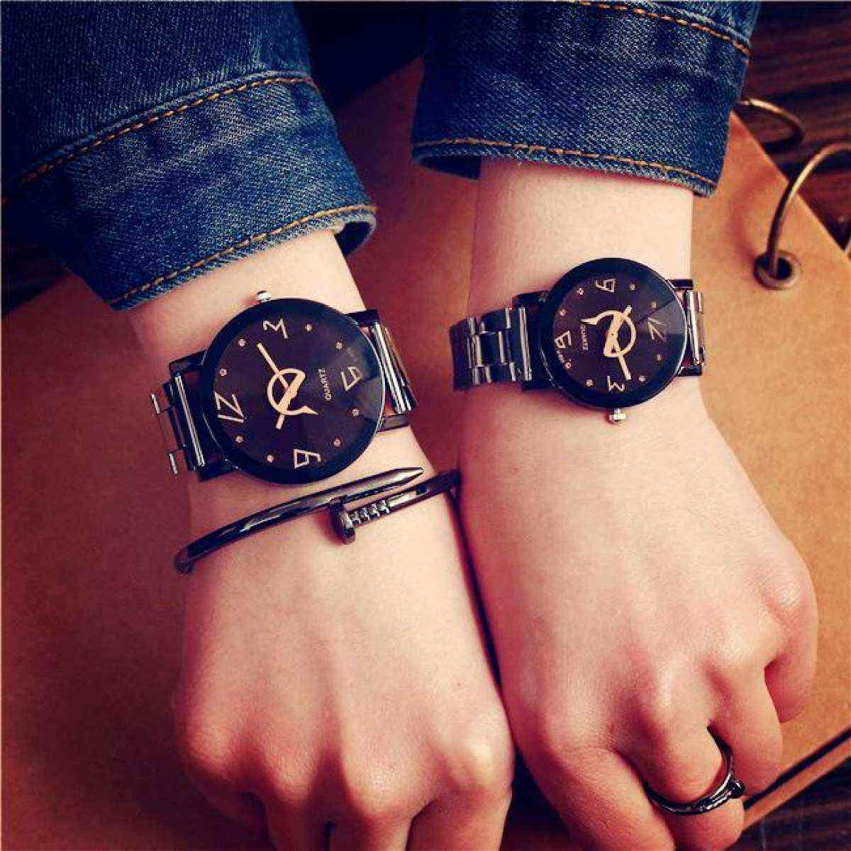 Simple Fashion Couple Watch Steel Belt Quartz Watches For Women Men Lover S Wristwatches Boys Girls Famous Clocks Buy Online At Best Prices In Bangladesh Daraz Com Bd