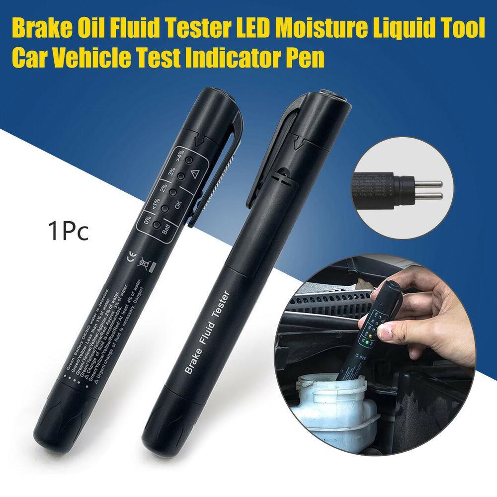 2PCS Car Brake Fluid Tester Pen 5-LED Pen Car Brake Fluid Tool Diagnostic Tool