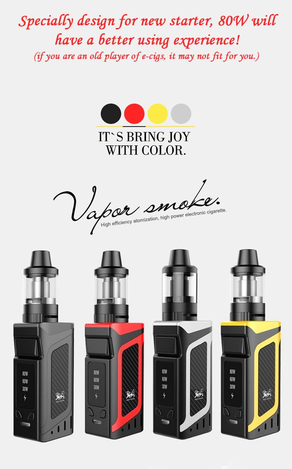 DOTENT VK Vape Kit Shisha Pen Hookah 80W Starter Kit 2000mAh Battery 510  Metal Body 3 5ml Atomizer Electronic Cigarette Vape Black