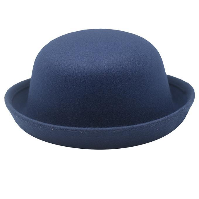 e3f43f9cb Blue Synthetic Dhoom 3 Bowler Felt Round Hat For Men