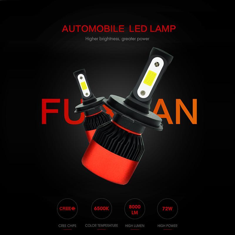 classico selezione mondiale di prezzo minimo Car Accessories S2 Car Led Headlights Super Bright Far And Near Lights H7H4  Led Lights Car Modified Headlights Accessori