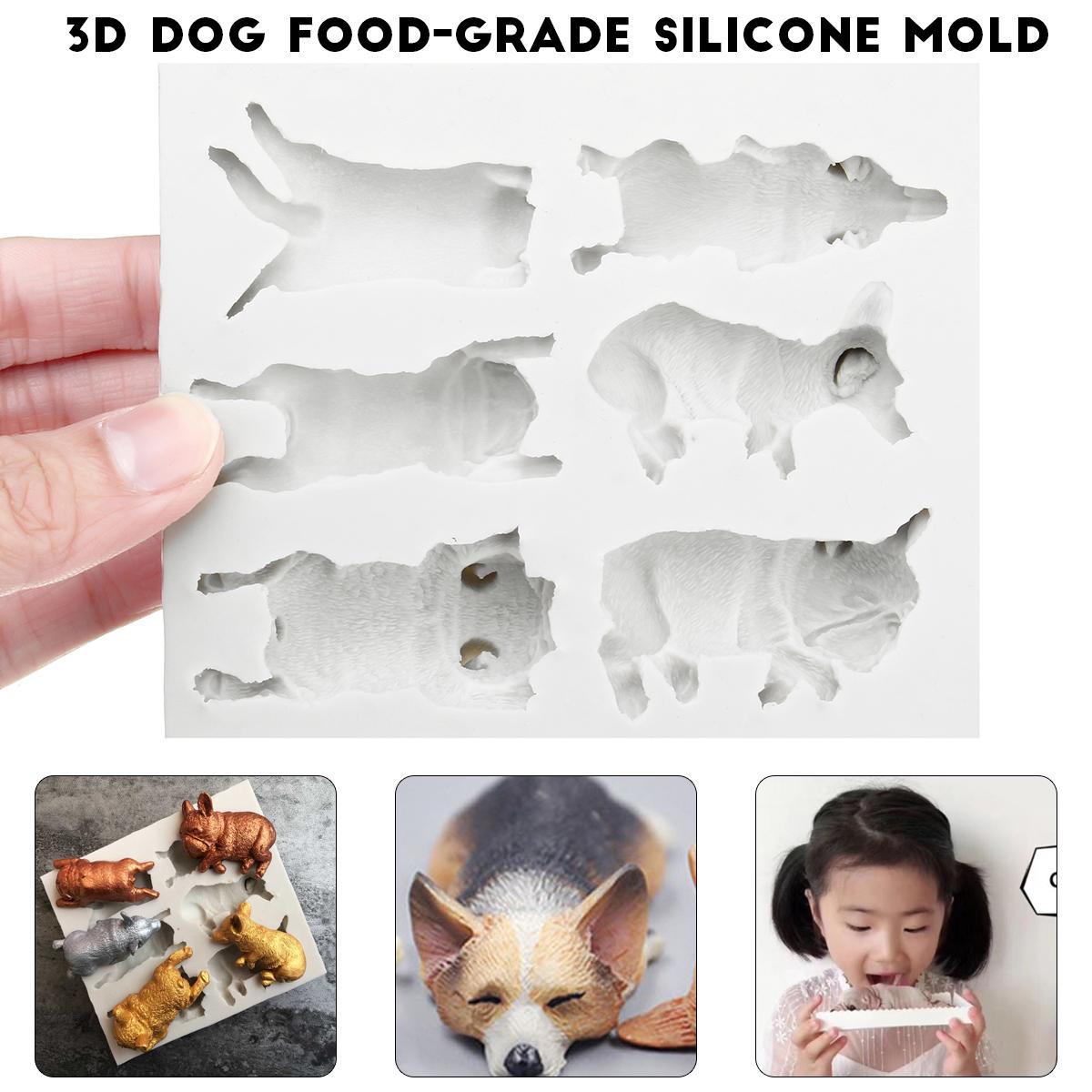 3D Animal Models Silicone Fondant Chocolate Cake Mold Baking Sugarcraft  Mould !
