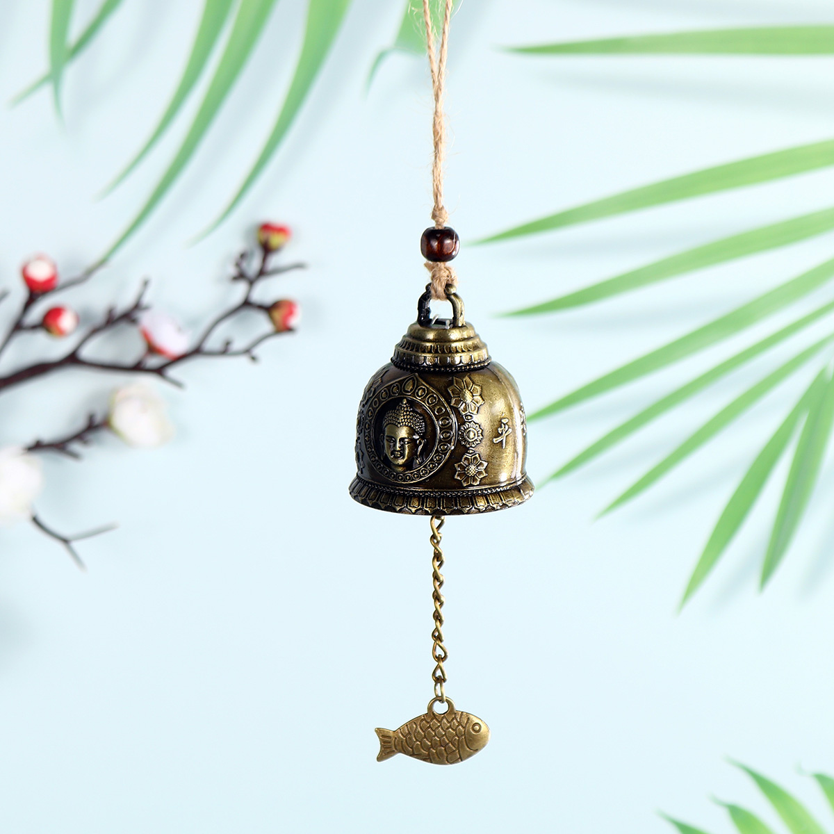 Chinese Wind Chime Buddha Single Bell Lucky Feng Shui Hanging Garden Decor:  Buy Online at Best Prices in Bangladesh   Daraz.com.bd