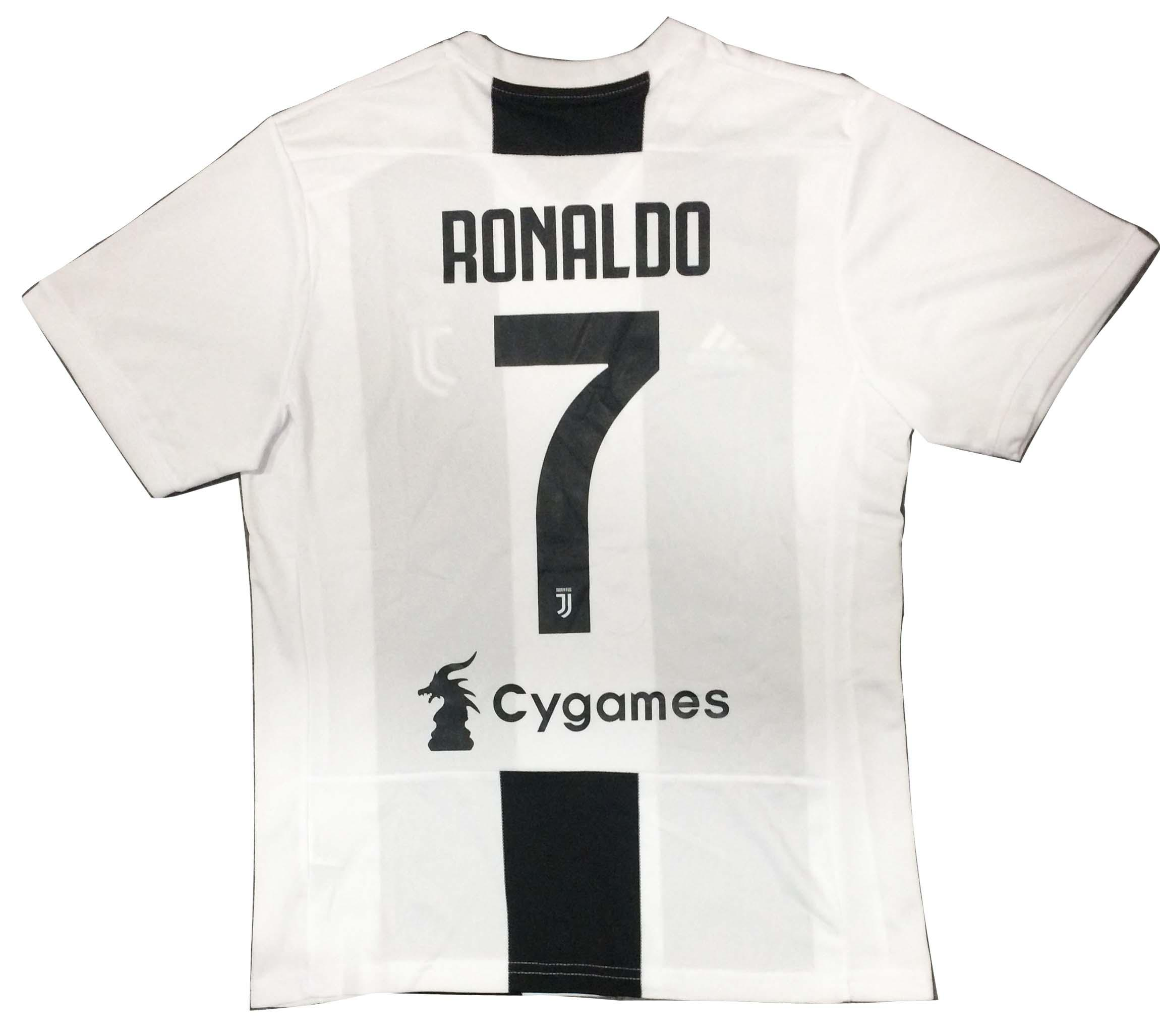 83c80e592 JUVENTUS HOME PLAYER JERSEY 2018 19 (WITH ORIGINAL RONALDO NAME AT BACK) -