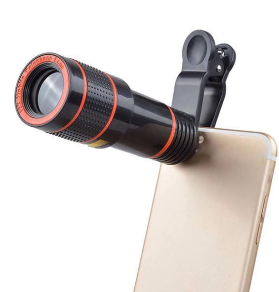 Mobile Telephoto Lens (8X Zoom) - Black