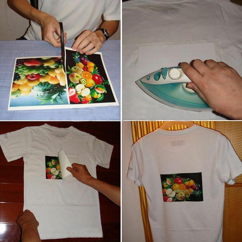 6 Pcs Dark T-Shirt Iron Heat Press Transfer Sublimation Paper For any Dark  T-Shirt