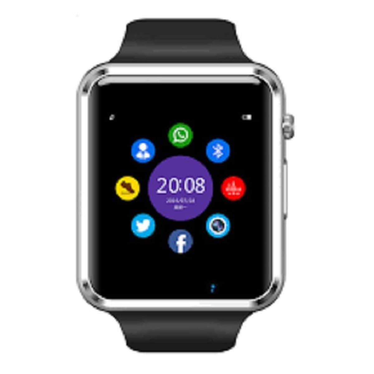 95517f69bb0 A-1 Bluetooth Smart Watch Phone with Pedometer Camera Single SIM - Black