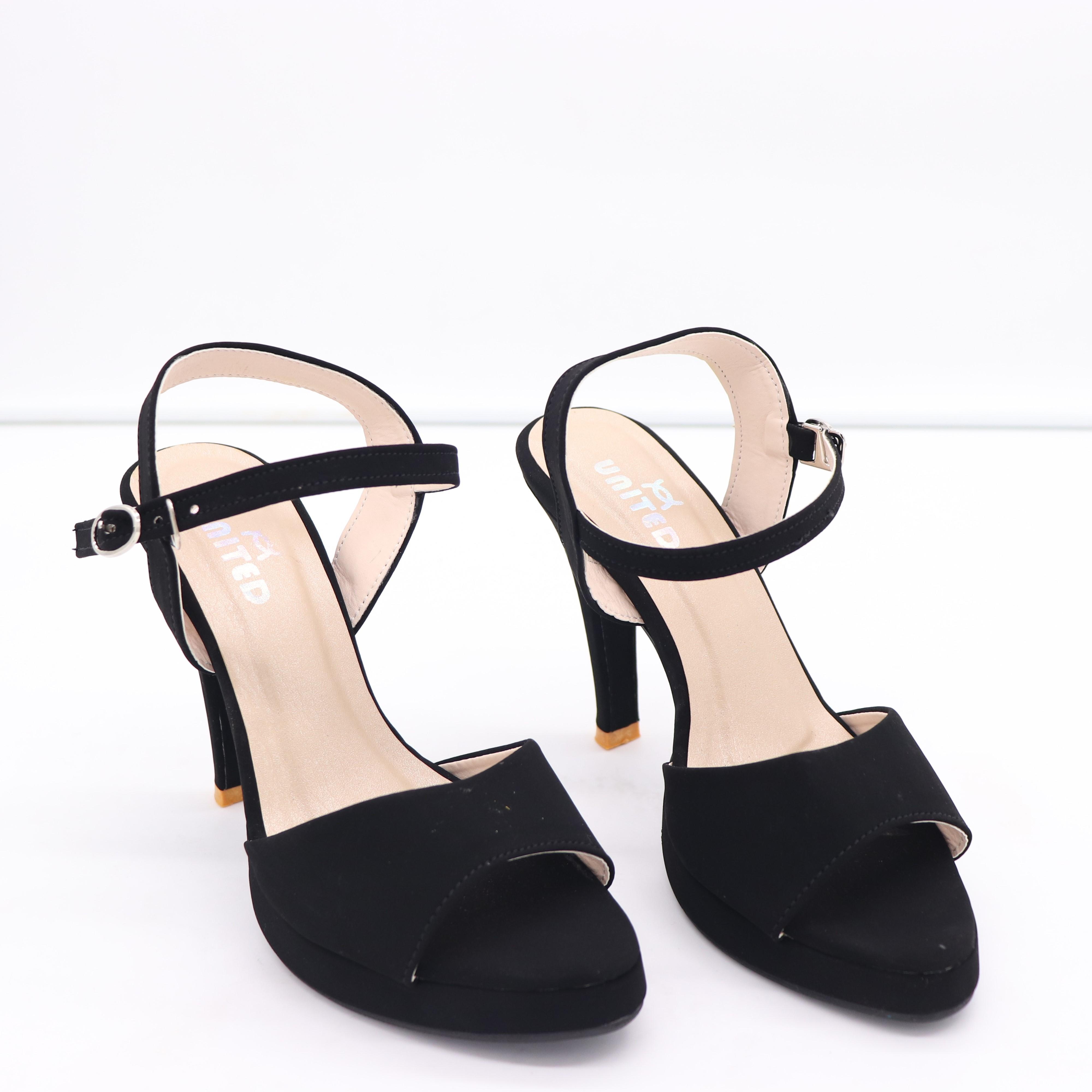 Black Pencil Heel Sandals: Buy Online