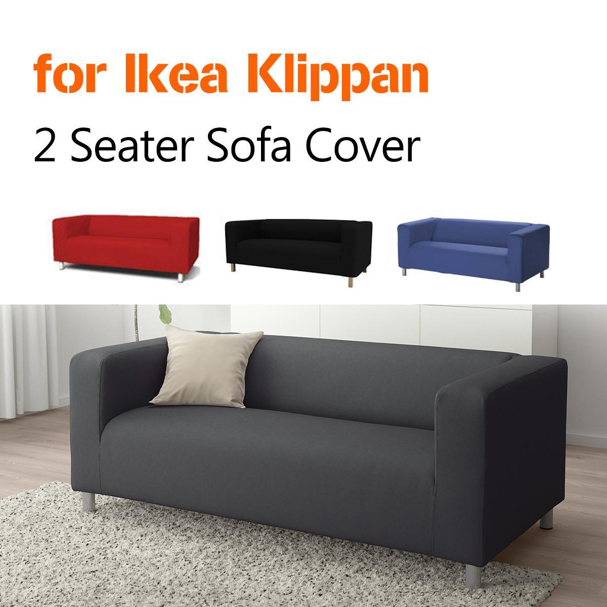 Custom Cover Slipcover to fit IKEA KLIPPAN 2 Seater Sofa Settee Replacement