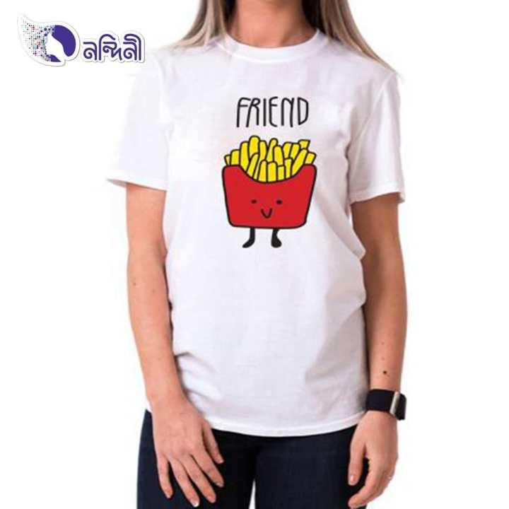 White Cotton T-shirts for Women