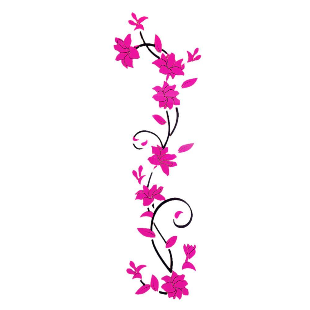 ac5f3ce5e9af Fashion DIY Decal Home Decor Removable Acrylic 3D Rose Flower Wall Sticker