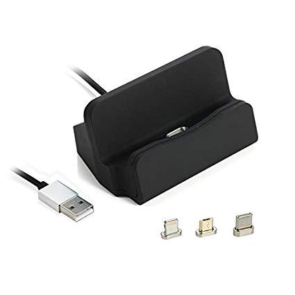 0aa4c5fd2ab 3 in 1 Type-C Android ISO Magnetic Charging Dock Station Type C Micro USB