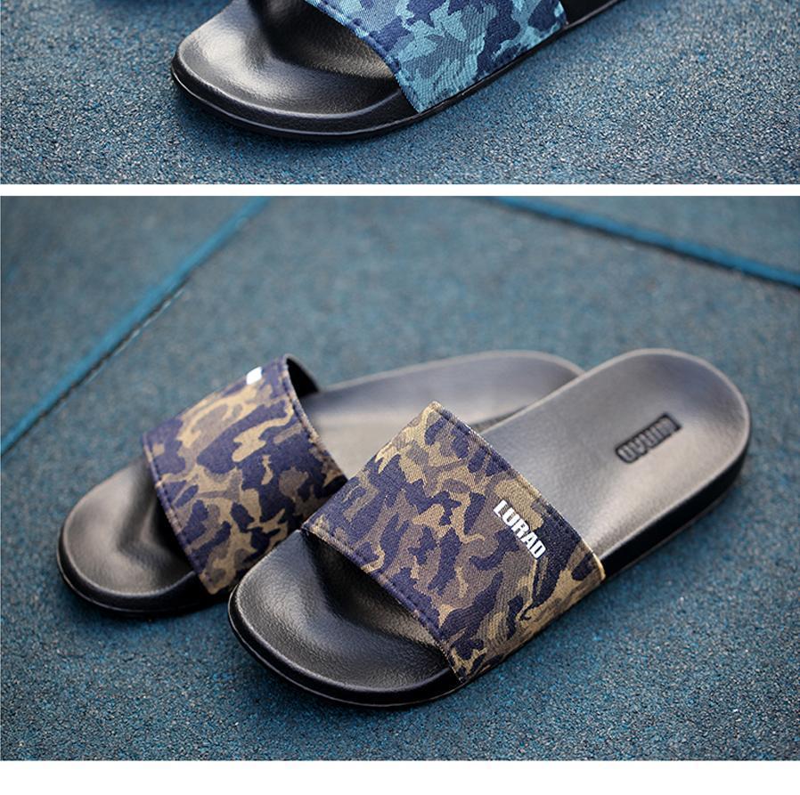 550c8151d7ee LURAD Men s Flip Flops Summer Platform Sandals Camouflage ...