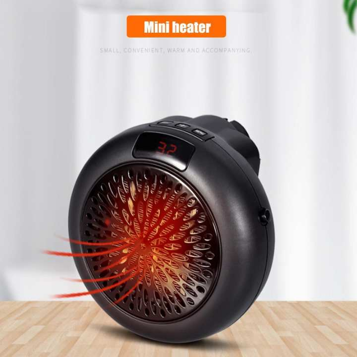 【Free Shipping + Flash Deal】Mini 900W Space Fan Heater Portable Plug-in Electric Wall-outlet Furnace Warmer