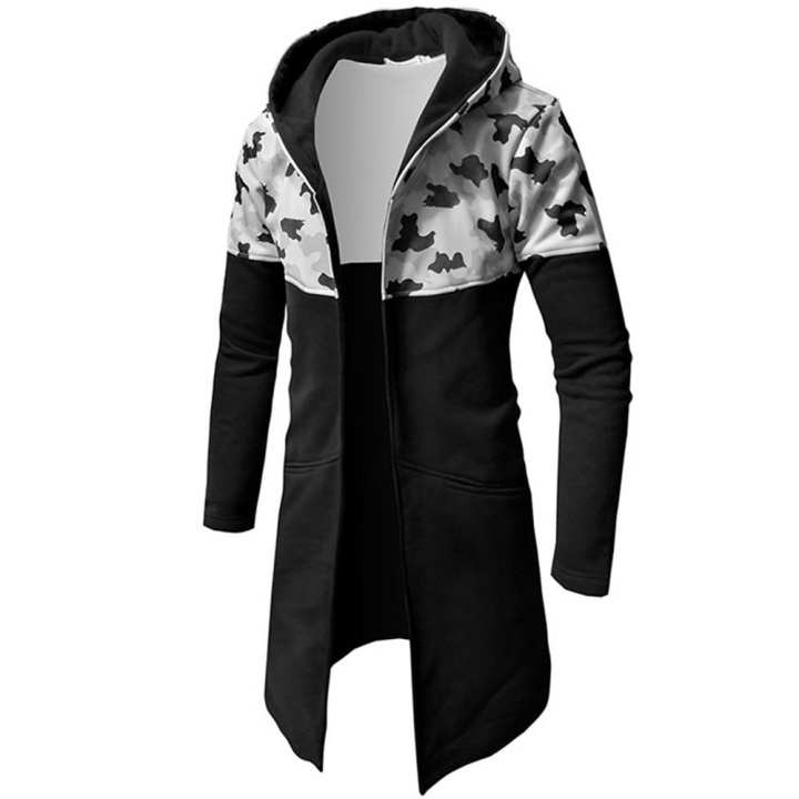 2019 Men's Autumn Winter Casual Camouflage Zipper Long Sleeve Top Blouse Jacket Coat