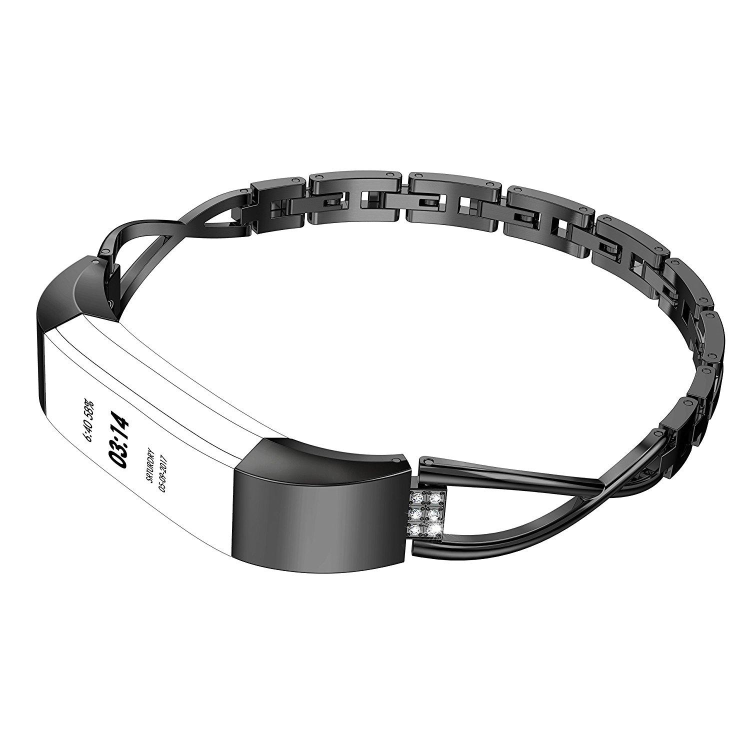 Replacement X Shape Stainless Steel Watch Band Strap Bracelet For Fitbit  Alta HR