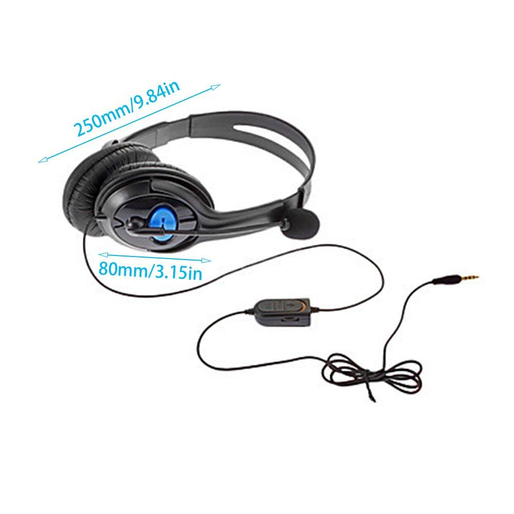 TE For Ps4 Bilateral Large Headphones Internet Voice Chat Voice Headset  black