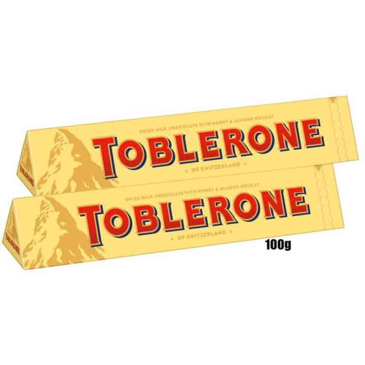 Toblerone Milk Chocolate Bar 2 Pcs (Switzerland) - 100g(per pcs)