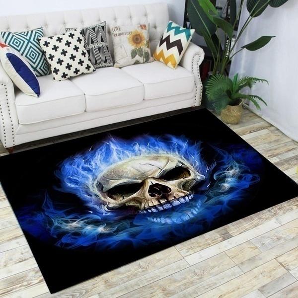 3 Size Skull Style Rugs For Bedroom Floor Carpet For Living Room Pattern Rug Anti Slip Doormat Halloween Decoration Buy Online At Best Prices In Bangladesh Daraz Com Bd