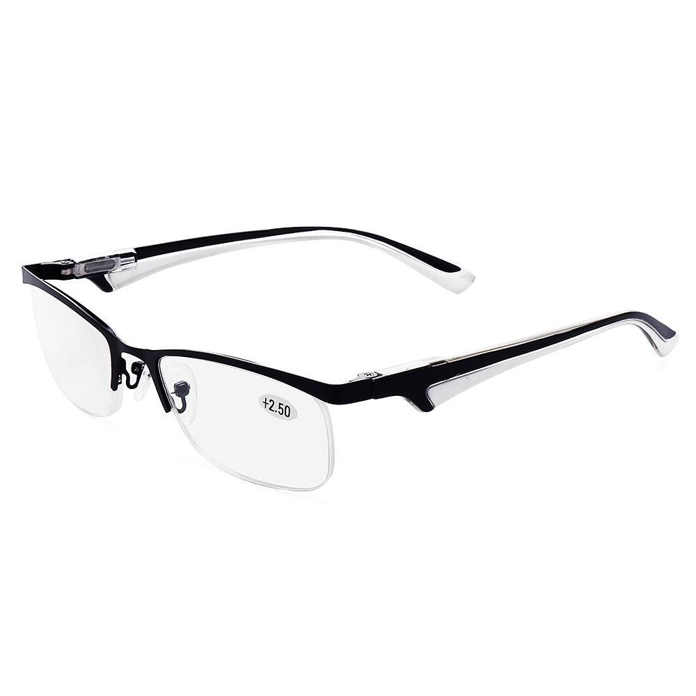 caac54c7dcd9 400 Degree Mens Womens Half-rimmed Glasses Protect Eyes Durable High  Definition Reading Glasses