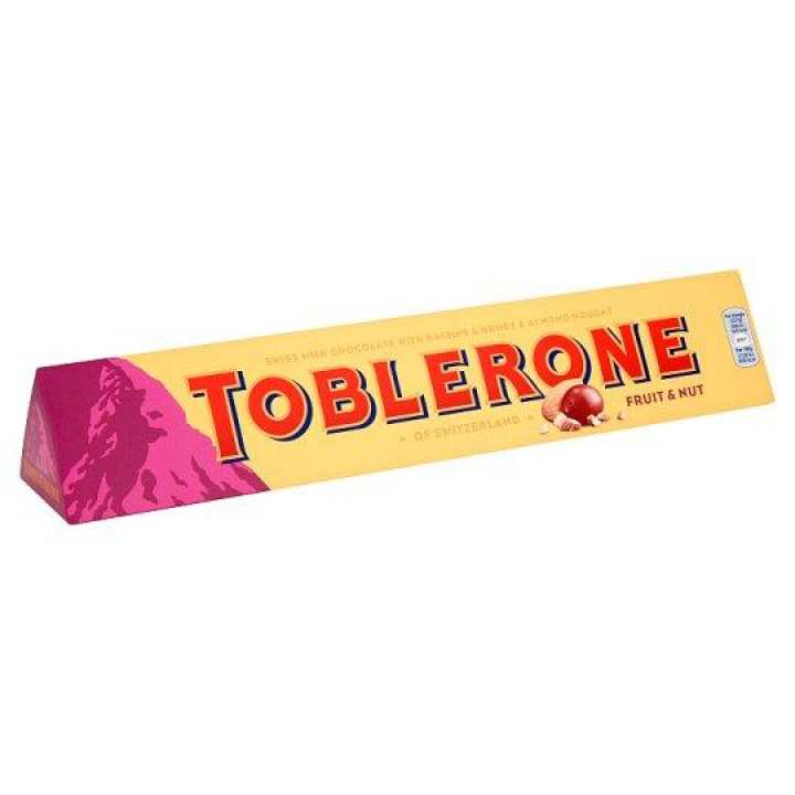 Toblerone Milk Chocolate - Fruit and Nut - 20x100g
