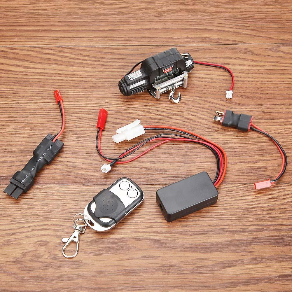 1 Set RC Crawler Car Winch Wireless Remote Control Receiver For 1/10 Redcat