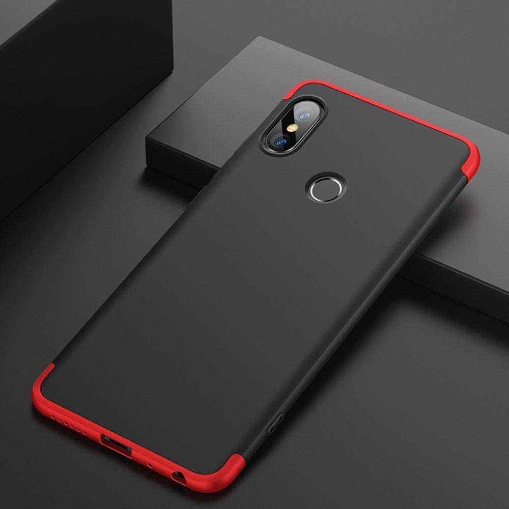 Xiaomi Redmi Note 7 360 Degree GKK Phone Back Cover - Black & Red, Xiaomi  Redmi Note 7 Cover, Note 7 Case 360 cover