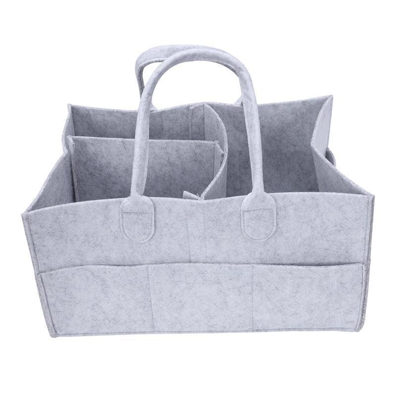 Baby Diaper Organizer Caddy Felt Changing Nappy Kids Storage Carrier Bag N7