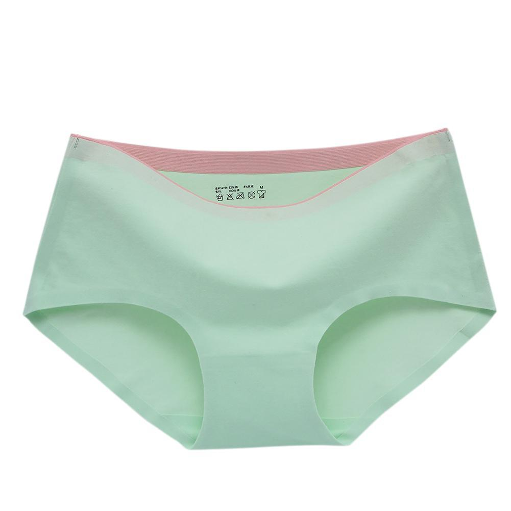 2cd33ffa89720b Green Cat Women Medium Waist Breathable Boxers Briefs Soft Cotton Traceless  Solid Color Underpants