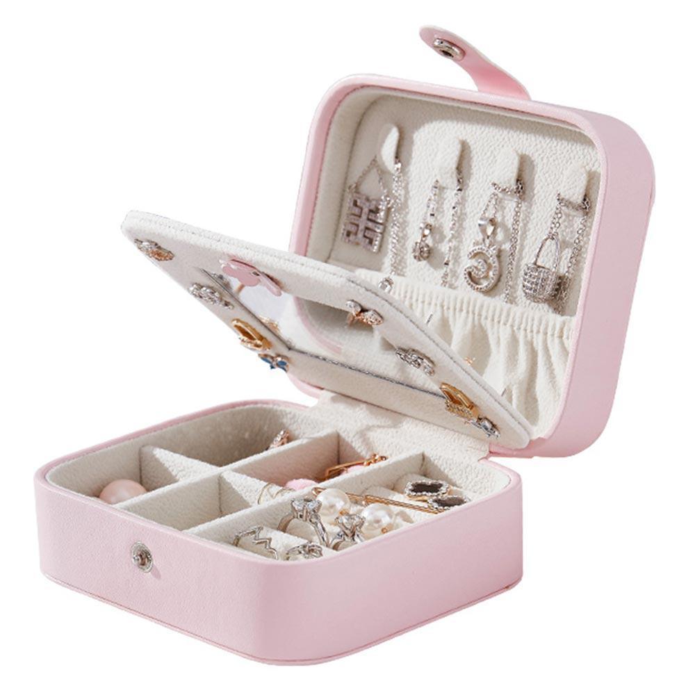1ba45989b1df jewelry organizer box cosmetic makeup organizer Travel jewelry packaging  box earrings storage jewelry casket case