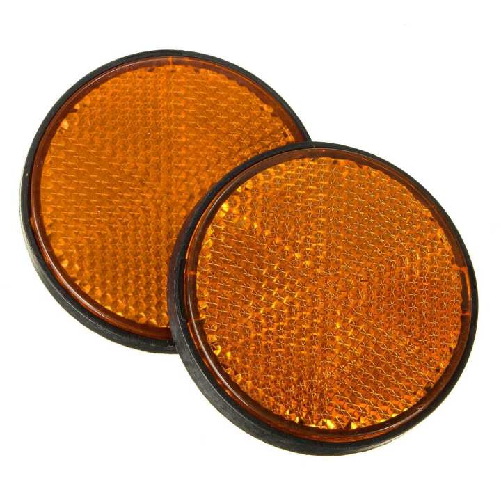 Yellow Reflector/Showlight For Motorcycles, ATV, Bikes And Dirt Bikes