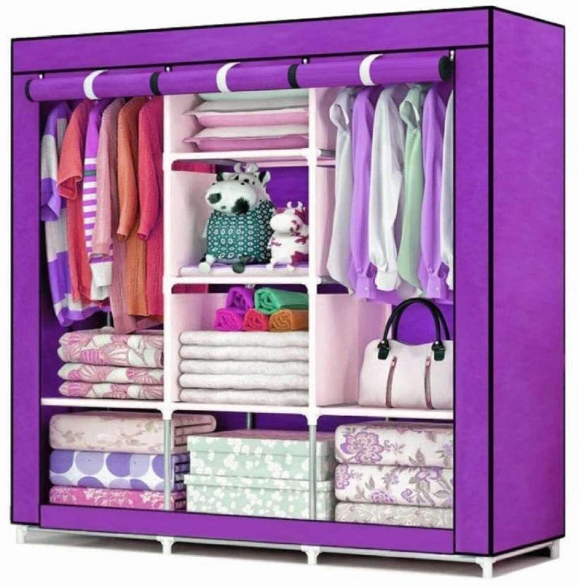 HCX Wardrobe Storage Organizer for Clothes - Purple